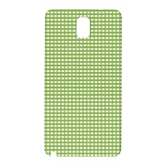 Gingham Check Plaid Fabric Pattern Samsung Galaxy Note 3 N9005 Hardshell Back Case