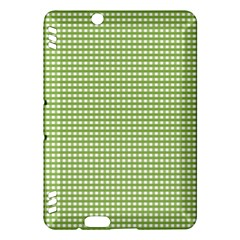 Gingham Check Plaid Fabric Pattern Kindle Fire Hdx Hardshell Case