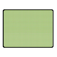 Gingham Check Plaid Fabric Pattern Double Sided Fleece Blanket (small)