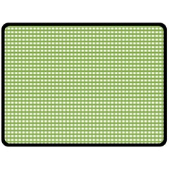 Gingham Check Plaid Fabric Pattern Double Sided Fleece Blanket (large)