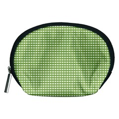 Gingham Check Plaid Fabric Pattern Accessory Pouches (medium)