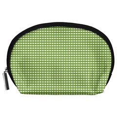 Gingham Check Plaid Fabric Pattern Accessory Pouches (large)