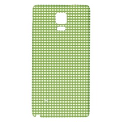 Gingham Check Plaid Fabric Pattern Galaxy Note 4 Back Case