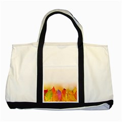 Autumn Leaves Colorful Fall Foliage Two Tone Tote Bag