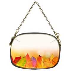 Autumn Leaves Colorful Fall Foliage Chain Purses (two Sides)