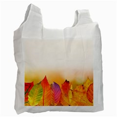 Autumn Leaves Colorful Fall Foliage Recycle Bag (Two Side)