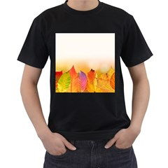 Autumn Leaves Colorful Fall Foliage Men s T Shirt (black)