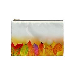 Autumn Leaves Colorful Fall Foliage Cosmetic Bag (medium)
