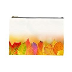 Autumn Leaves Colorful Fall Foliage Cosmetic Bag (large)