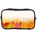 Autumn Leaves Colorful Fall Foliage Toiletries Bags Front