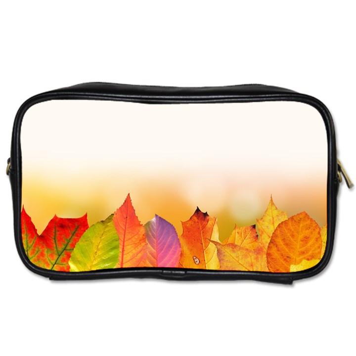 Autumn Leaves Colorful Fall Foliage Toiletries Bags