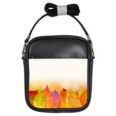 Autumn Leaves Colorful Fall Foliage Girls Sling Bags
