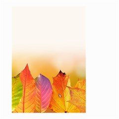 Autumn Leaves Colorful Fall Foliage Small Garden Flag (two Sides)
