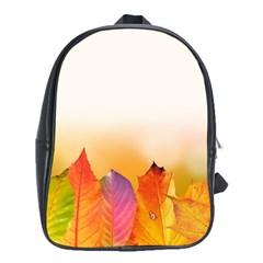 Autumn Leaves Colorful Fall Foliage School Bags (xl)
