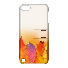 Autumn Leaves Colorful Fall Foliage Apple Ipod Touch 5 Hardshell Case With Stand