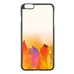 Autumn Leaves Colorful Fall Foliage Apple Iphone 6 Plus/6s Plus Black Enamel Case