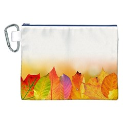 Autumn Leaves Colorful Fall Foliage Canvas Cosmetic Bag (xxl)