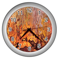 Background Texture Pattern Vintage Wall Clocks (Silver)