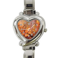 Background Texture Pattern Vintage Heart Italian Charm Watch