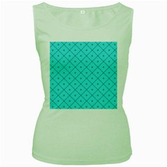Pattern Background Texture Women s Green Tank Top