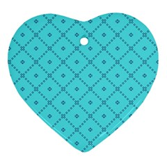 Pattern Background Texture Heart Ornament (two Sides)
