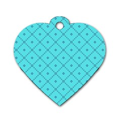 Pattern Background Texture Dog Tag Heart (two Sides)