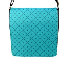 Pattern Background Texture Flap Messenger Bag (l)