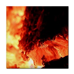Fire Log Heat Texture Tile Coasters