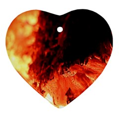 Fire Log Heat Texture Ornament (heart)