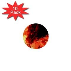 Fire Log Heat Texture 1  Mini Buttons (10 Pack)