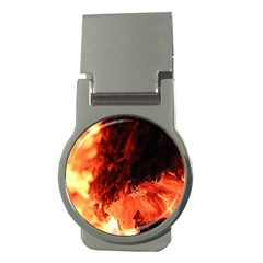 Fire Log Heat Texture Money Clips (round)