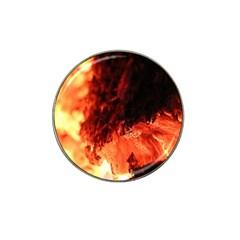 Fire Log Heat Texture Hat Clip Ball Marker (4 Pack)