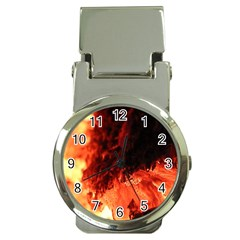 Fire Log Heat Texture Money Clip Watches