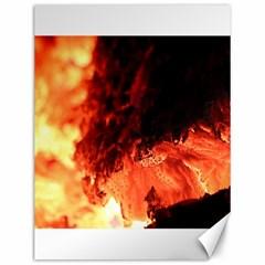 Fire Log Heat Texture Canvas 12  x 16