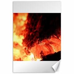 Fire Log Heat Texture Canvas 24  x 36