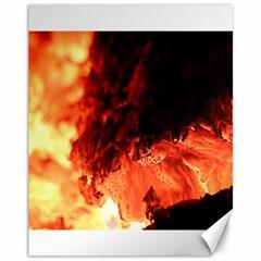 Fire Log Heat Texture Canvas 11  X 14