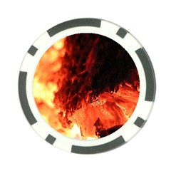 Fire Log Heat Texture Poker Chip Card Guard