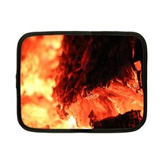 Fire Log Heat Texture Netbook Case (small)