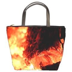 Fire Log Heat Texture Bucket Bags