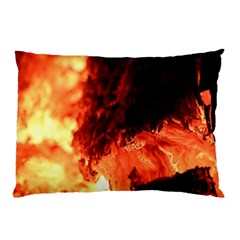 Fire Log Heat Texture Pillow Case
