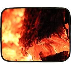 Fire Log Heat Texture Double Sided Fleece Blanket (mini)