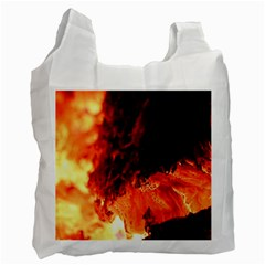 Fire Log Heat Texture Recycle Bag (two Side)