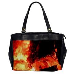 Fire Log Heat Texture Office Handbags