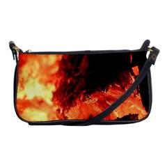Fire Log Heat Texture Shoulder Clutch Bags