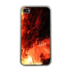 Fire Log Heat Texture Apple iPhone 4 Case (Clear)