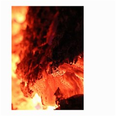 Fire Log Heat Texture Small Garden Flag (two Sides)