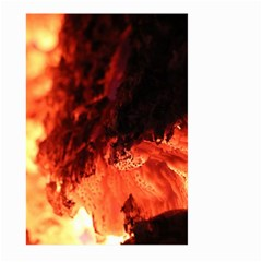 Fire Log Heat Texture Large Garden Flag (Two Sides)