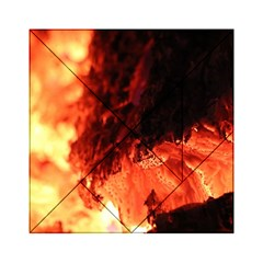 Fire Log Heat Texture Acrylic Tangram Puzzle (6  X 6 )