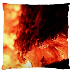 Fire Log Heat Texture Large Cushion Case (two Sides)