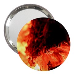 Fire Log Heat Texture 3  Handbag Mirrors